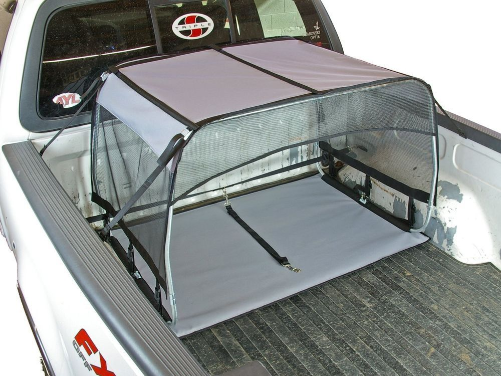 Canopy w/ Pad and Tether for Truck Beds Dog Shade Shelter
