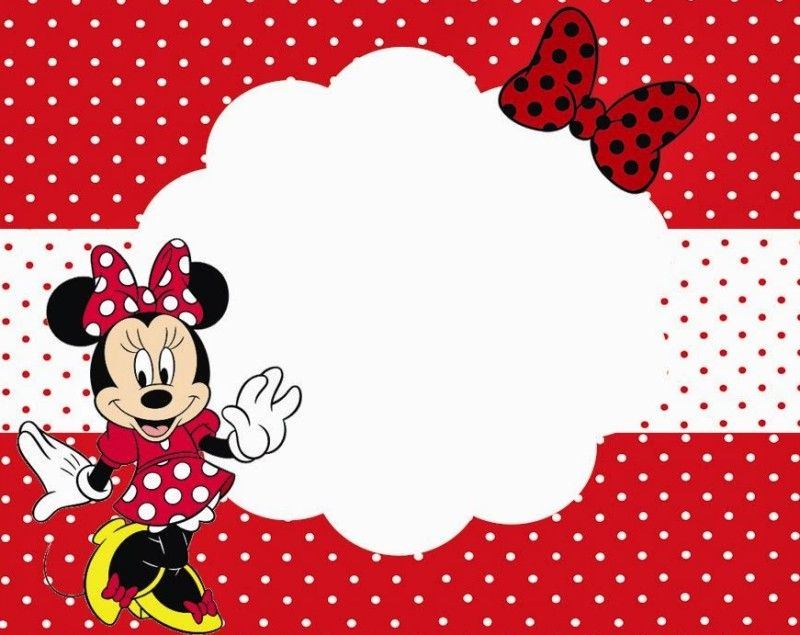 Minnie Mouse Printable Party Invitation Template for Girls Free