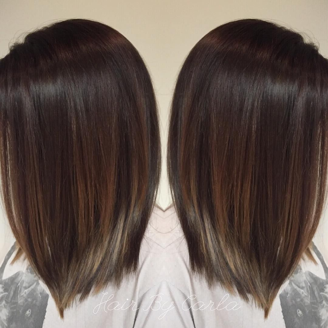 Dark Brown Hair With Subtle Balayage Balayage Straight Hair Hair Styles Balayage Hair