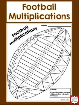 Football Multiplications Multiplication Football Math Activities Math Multiplication