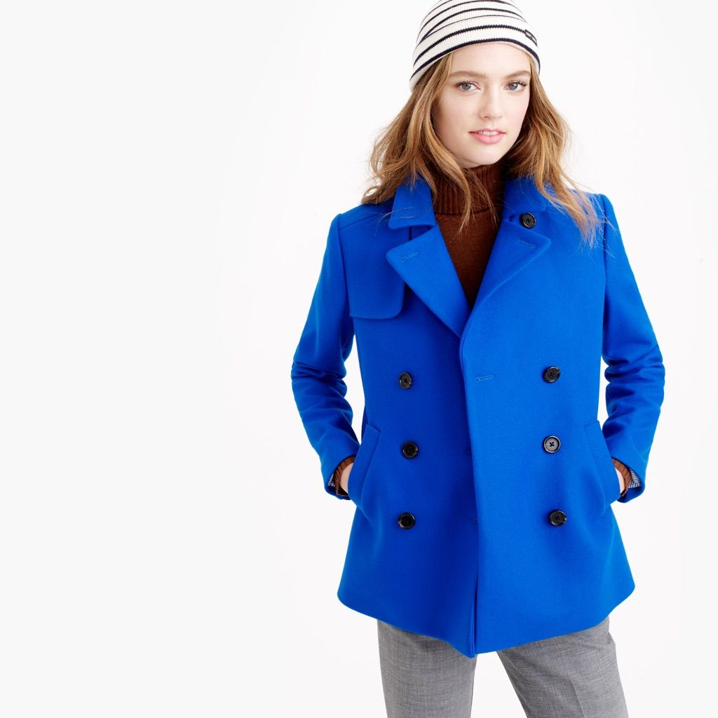 Bright Blue Pea Coat | Products
