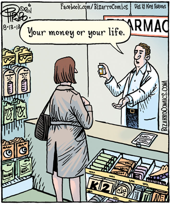 Universal Healthcare Type One Diabetes Bizarro Comic Funny