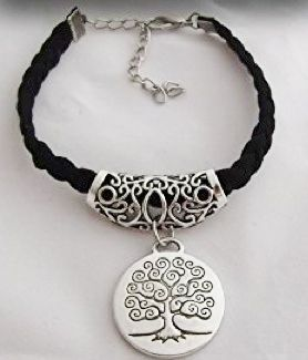 Tree of Life Bracelet � Black and Silver