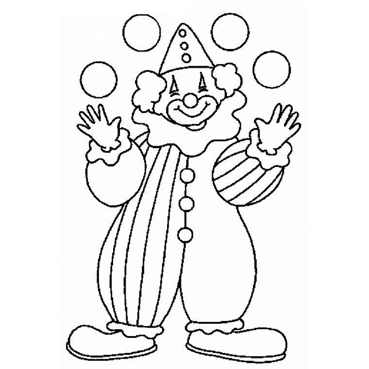 Coloriage Cirque Jongleur A Imprimer Gratuit Coloriage Clown