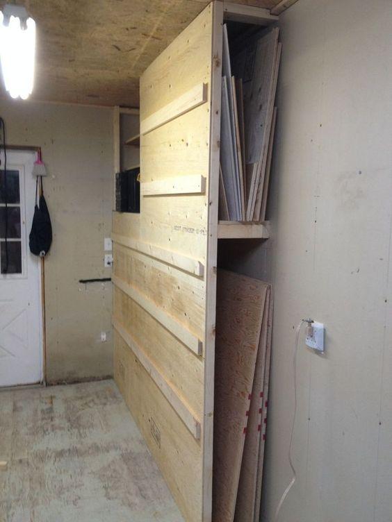 multipurpose storage french cleat rack system and scrap wood storage build pinterest. Black Bedroom Furniture Sets. Home Design Ideas