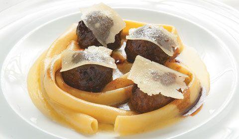 Sorellina, Kobe beef meatballs and maccaroni