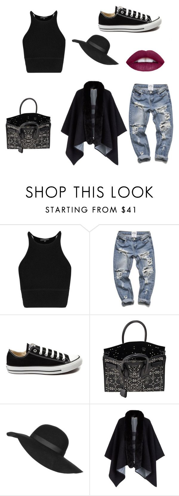 """""""Untitled #423"""" by isabellarosier ❤ liked on Polyvore featuring Converse, Yves Saint Laurent, Topshop, Burberry, women's clothing, women, female, woman, misses and juniors"""