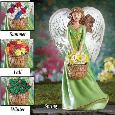 Seasonal Garden Angel Statue with Solar Light | Solar and Angel