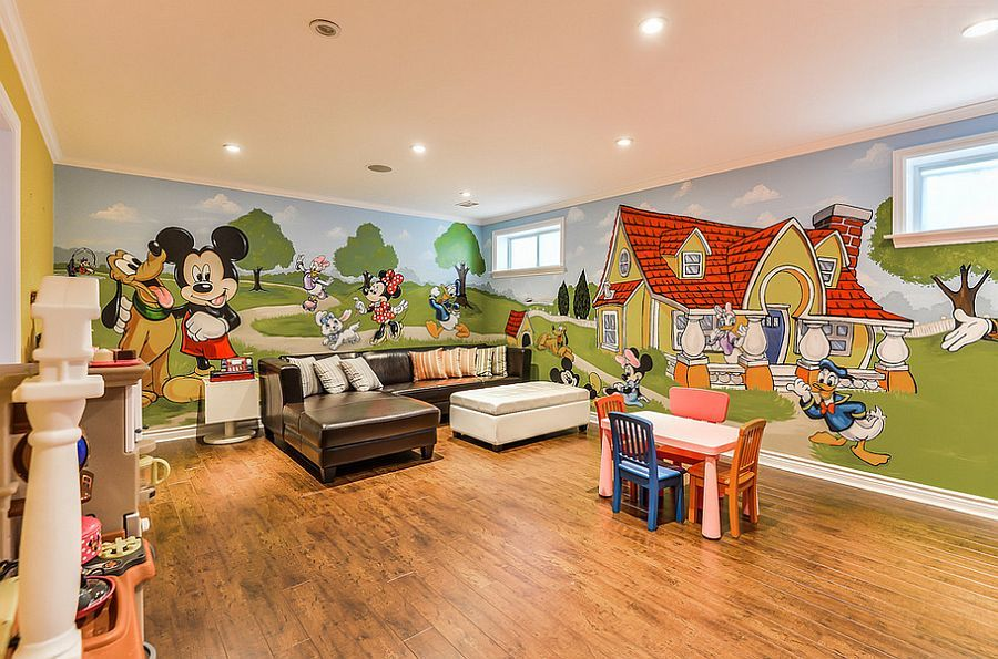 25 Disney Inspired Rooms That Celebrate Color And Creativity Disney Kids Rooms Disney Themed Bedrooms Themed Kids Room