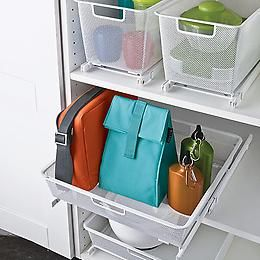 Elegant For Toy Storage Inside The Bookshelves  The Container Store U003e Cabinet Sized  Elfa Mesh
