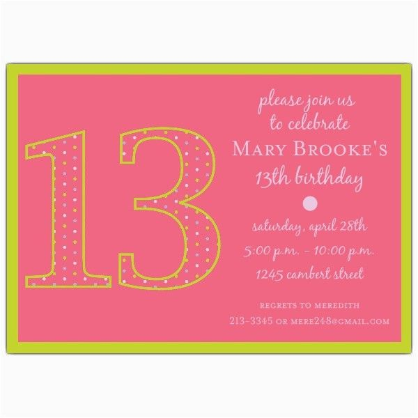 13th Birthday Invitation Wording Samples Cute Quotes