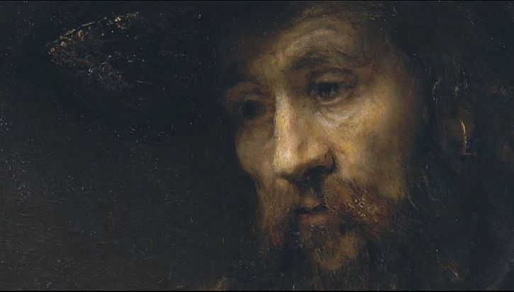 .:. Rembrandt, Aristotle Contemplating the Bust of Homer, 1653 detail Aristotle