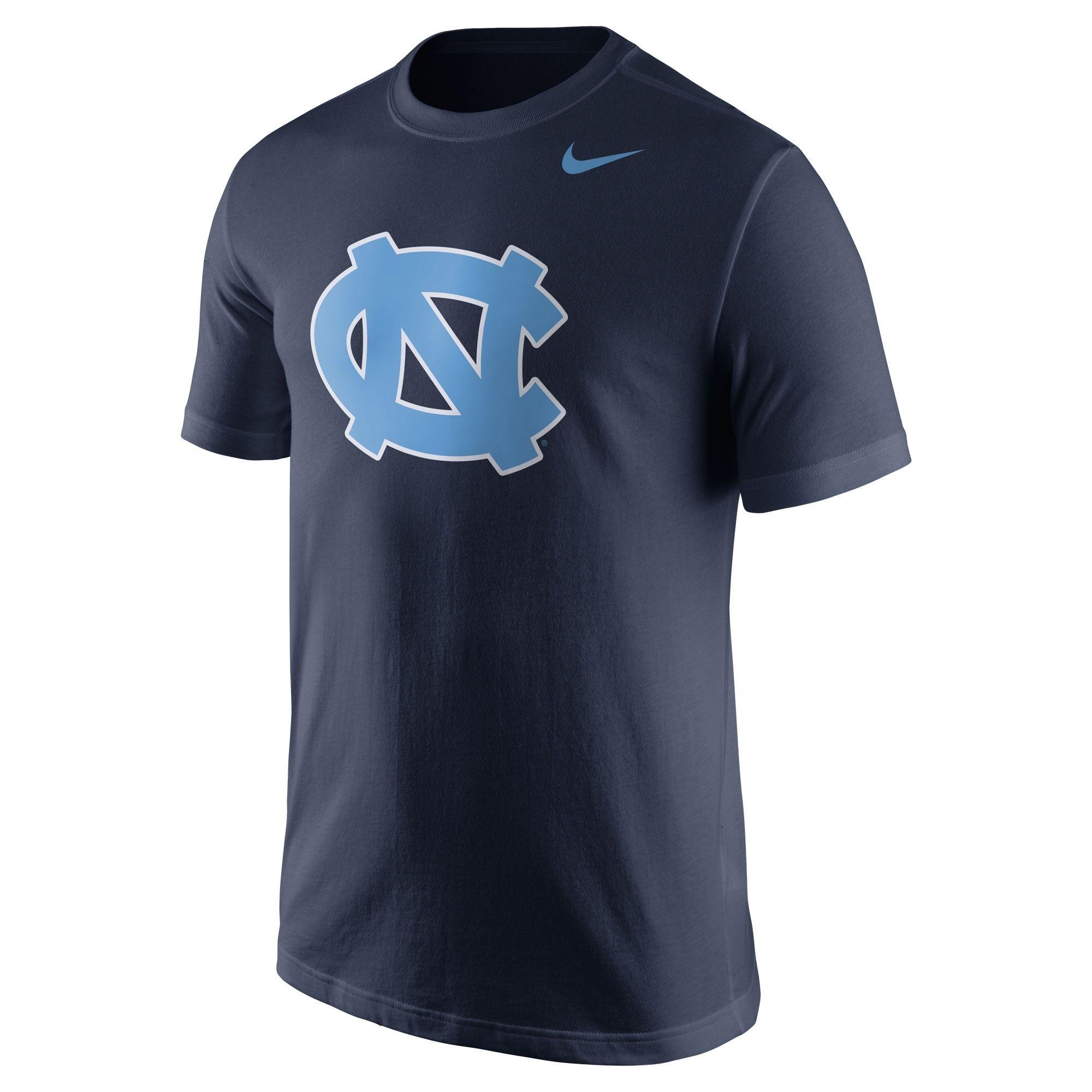 Nike North Carolina Tar Heels Navy Blue Logo T Shirt North