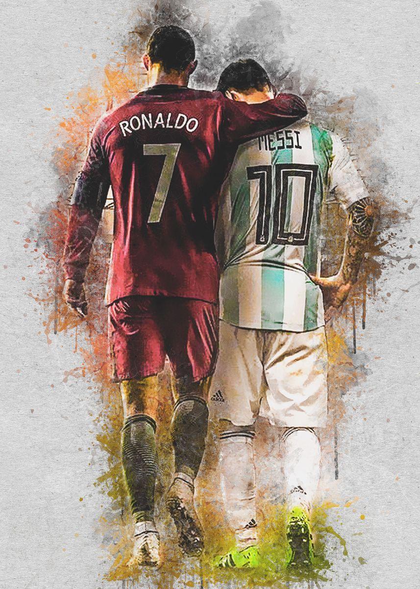 Messi Ronaldo Poster Print By Mikha Art Displate Jogadores De Futebol Melhores Jogadores De Futebol Messi E Cristiano Ronaldo