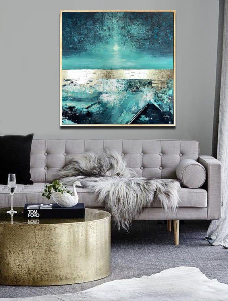 Weicher Tanz - große abstrakte Malerei Platz, Wohnzimmer Kunst