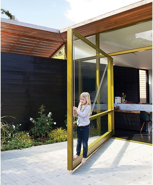 Pin metal frame doors (Lara Hedberg Deam, Dwell founder's home in Mill  Valley)