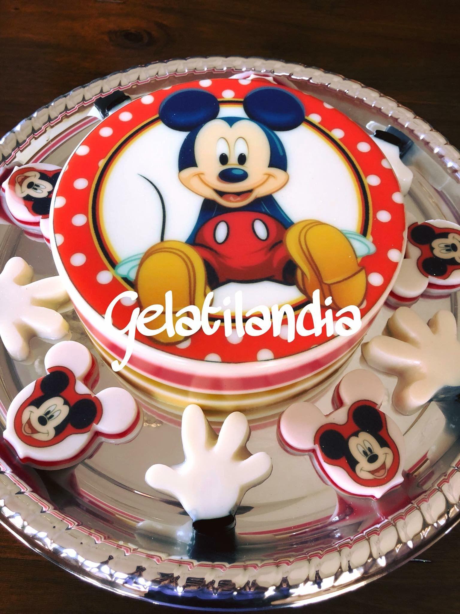 Gelatina De Mickey Mouse Gelatinas Infantiles Gelatinas Gelatinas Para Fiestas