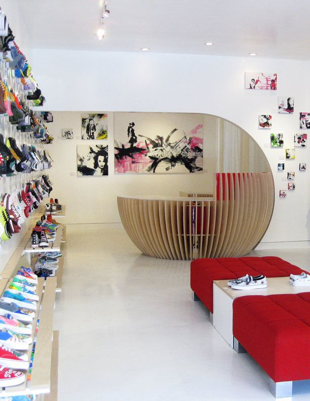 Curved Wall To Rear Of Space Awesomely Creative Sales Counter And