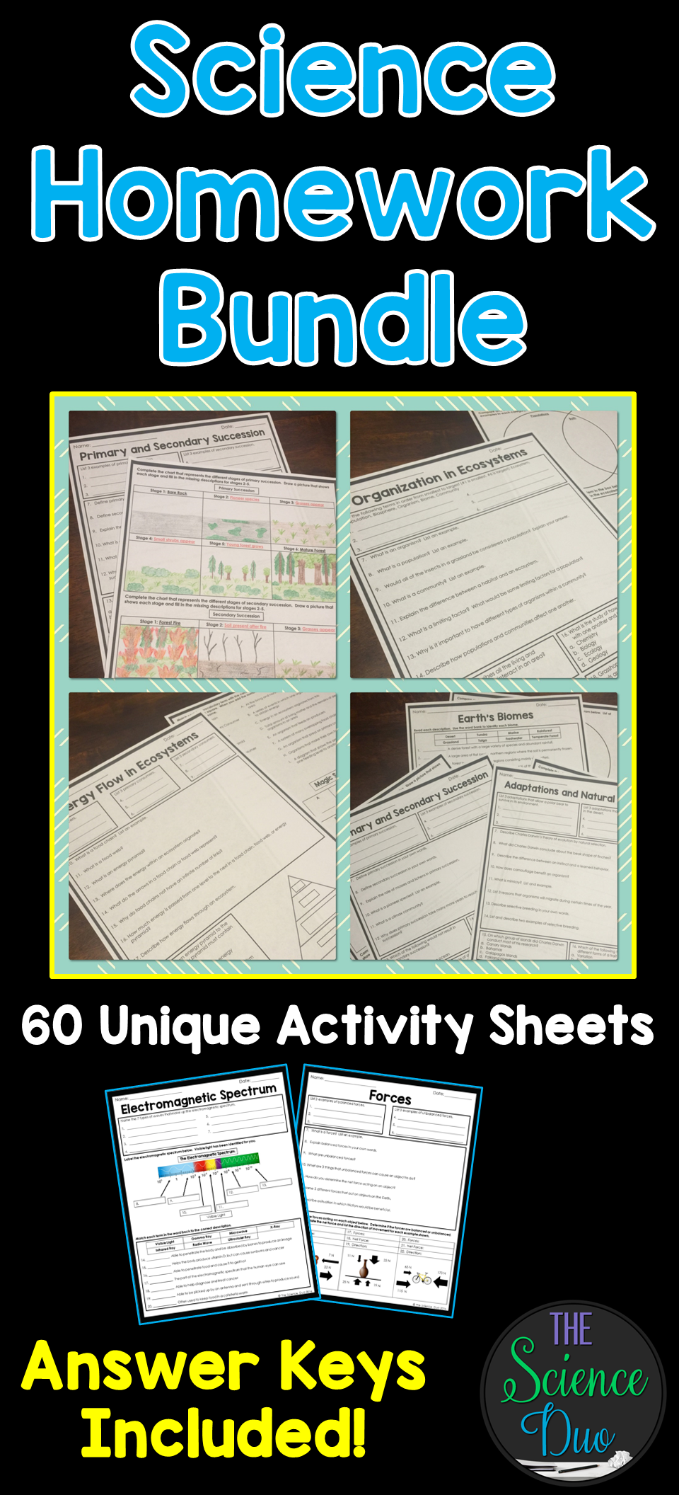 Science Homework Bundle | Earth science lessons, 6th grade ...