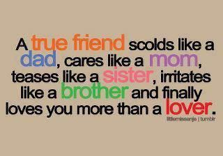 My true friends...