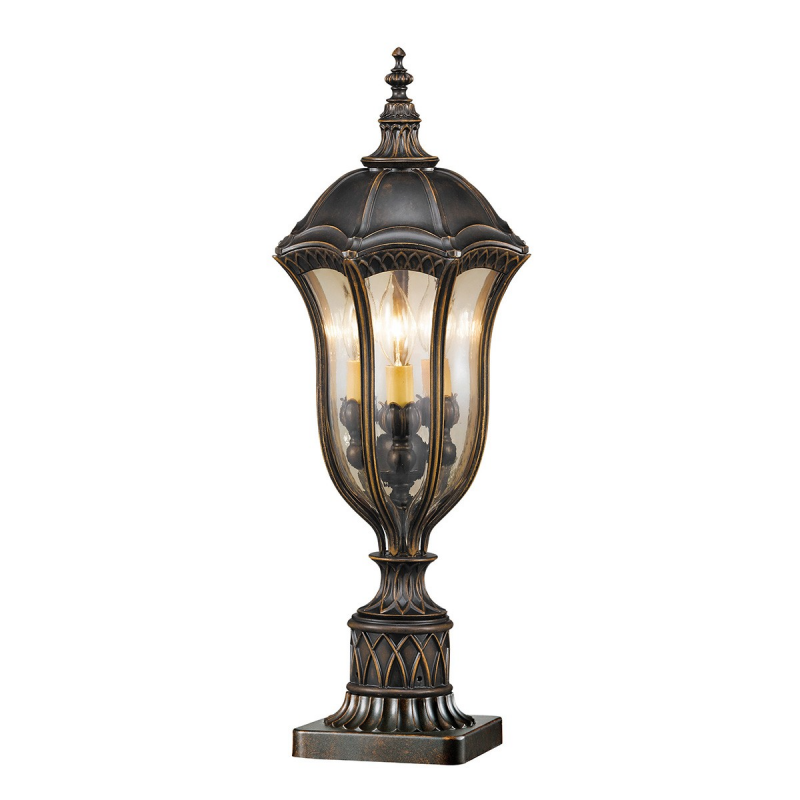Baton rouge pedestal lantern elstead lighting netlighting ltd
