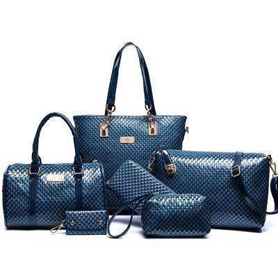Women Fashion Shoulderbag Set, 6 Pieces, Blue, Brown, Black, Yellow, Red