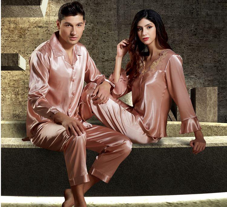 Silk Blend Gorgeous Women Sleepwear Lace Sleep Tops Pants