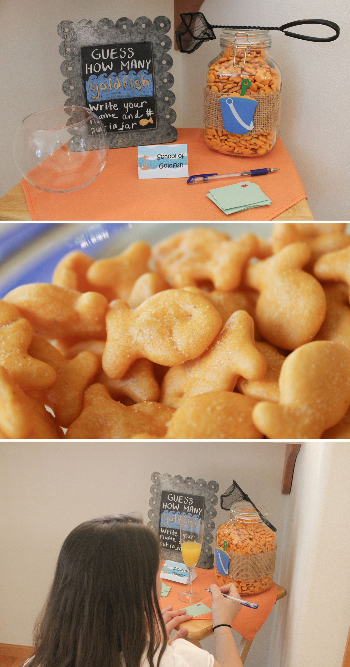 Goldfish Game | Nautical Baby Shower | A Couple Of Amateurs
