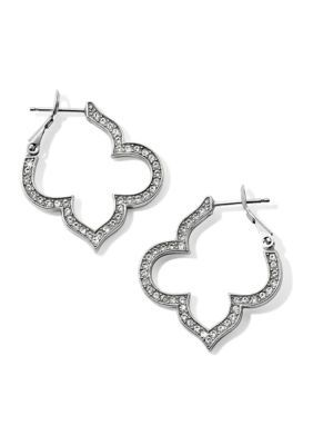 Brighton Toledo Collective Pavé Hoop Earrings. Swarovski crystals stun on these pavé hoop earrings that will glisten with every wear.
