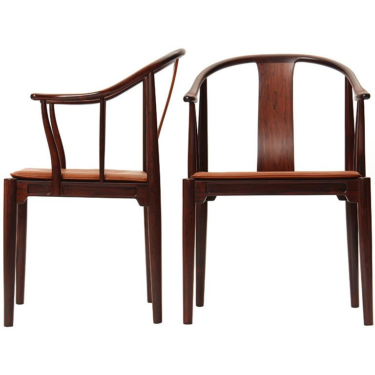 Rosewood Chinese Chairs By Hans J Wegner 1stdibs Com