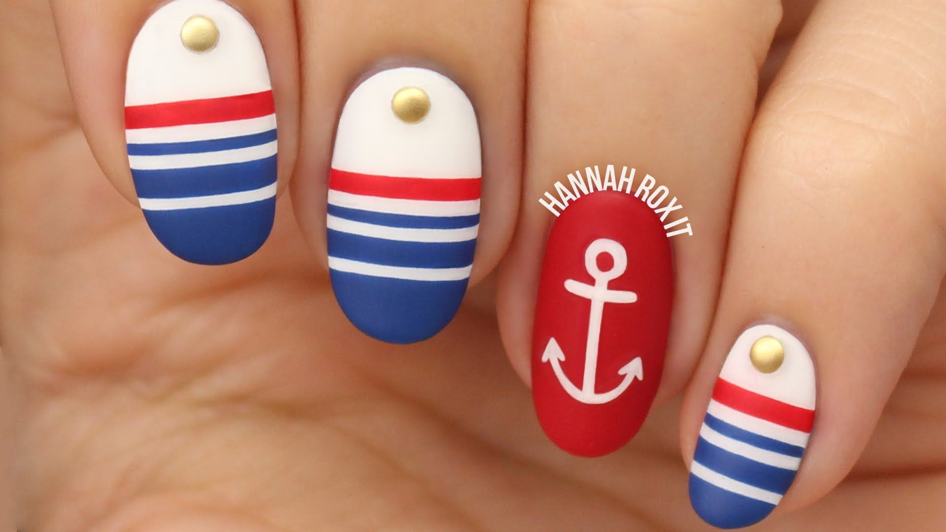 ❤ OPEN FOR PRODUCT INFO & MORE! Nautical sailor nails! DIY cute ...