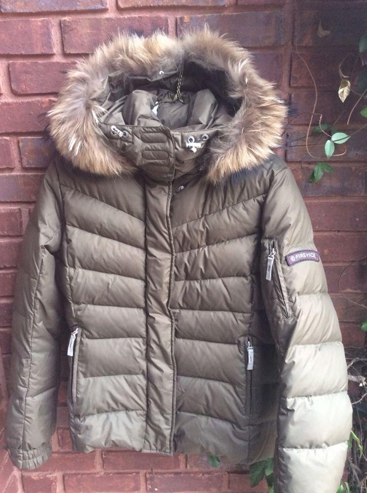 Fire + Ice Bogner Sale D Women s Ski Jacket size 8 38 with fur 37b555154