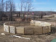 How Build a Safe Round Pen on an Extreme Budget: A round pen is used