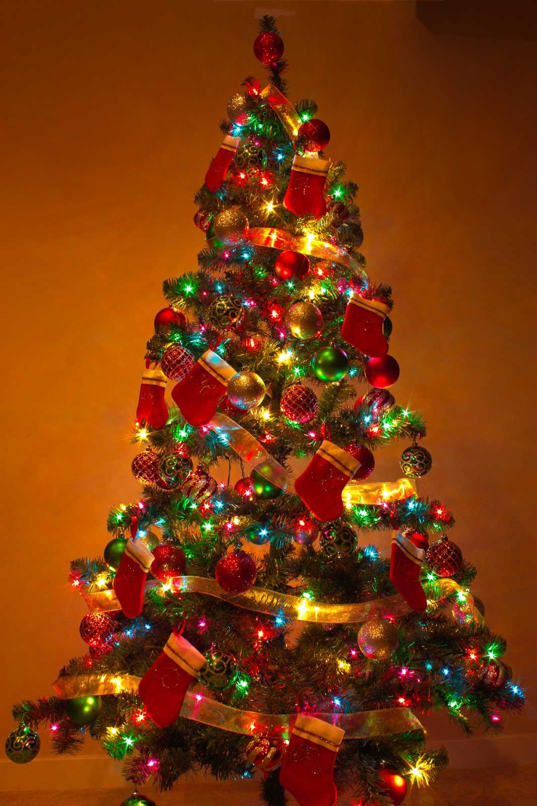 Arbol De Navidad Decorado Dibujo De Arbol De Navidad Arbol