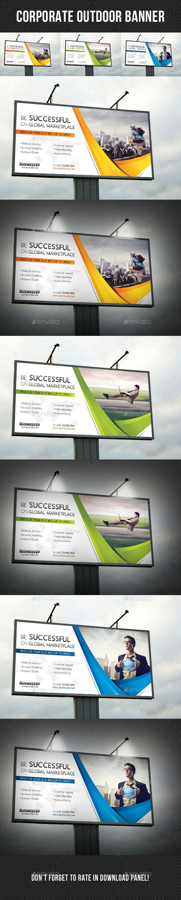 Corporate Outdoor Banner 35 — Photoshop PSD #creative #template • Available ...