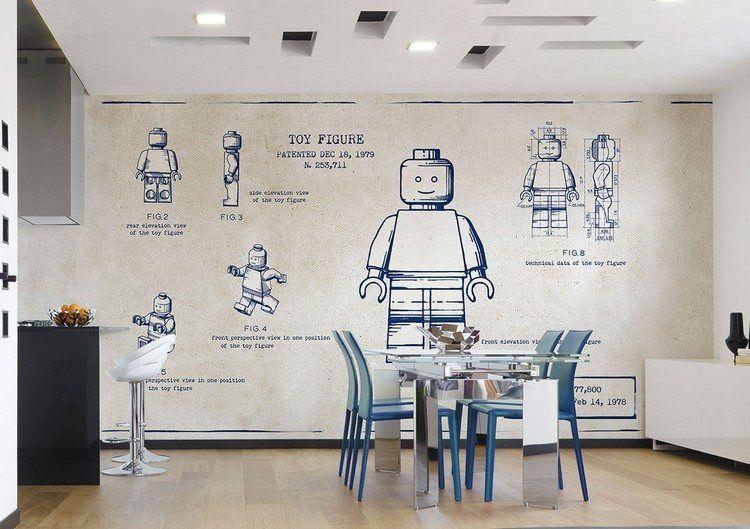 Tapete für Küche, die Kinder besonders mögen Ideen rund ums Haus