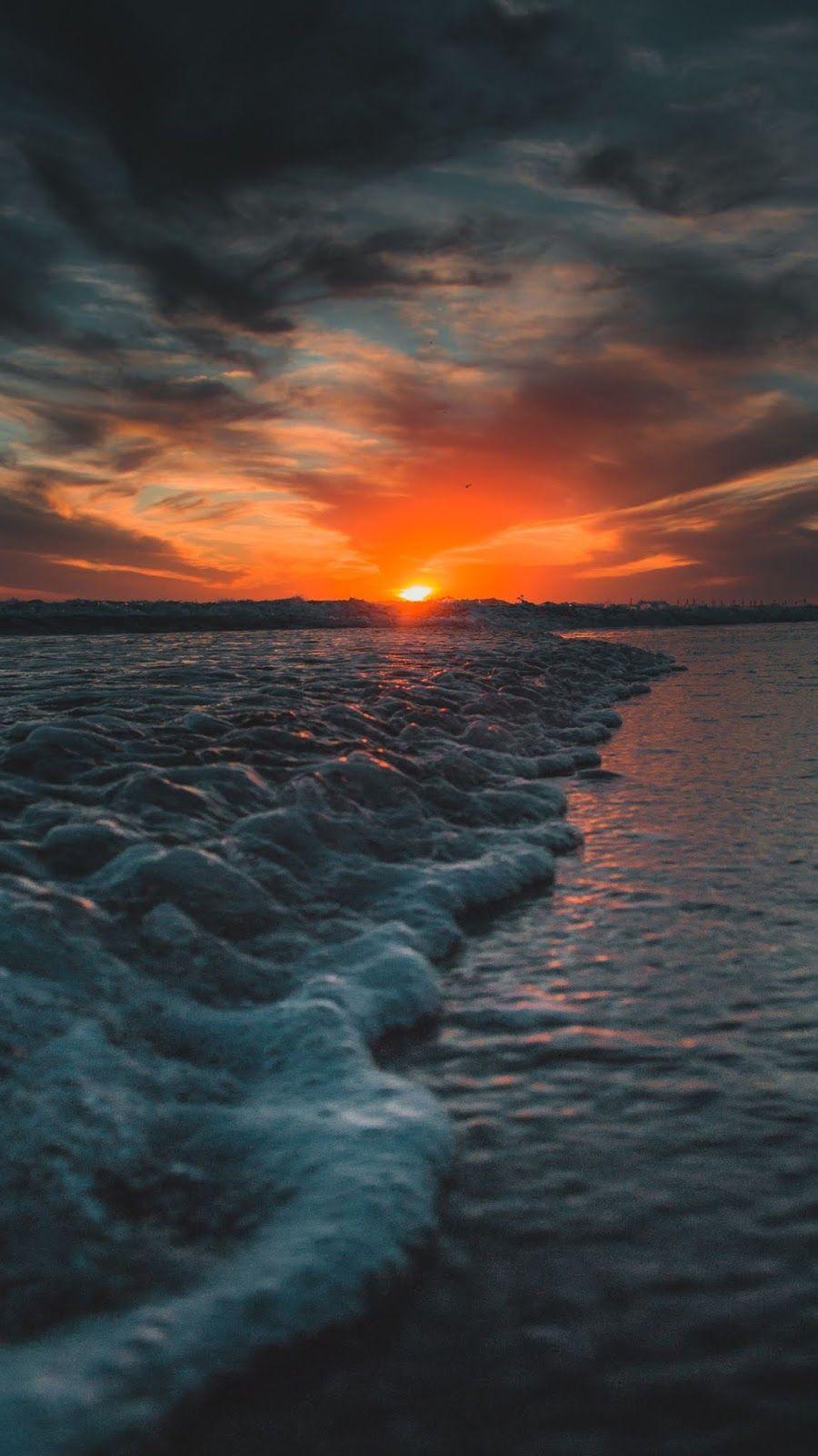 Aesthetic Sunset In 2020 Sunset Wallpaper Beach Sunset