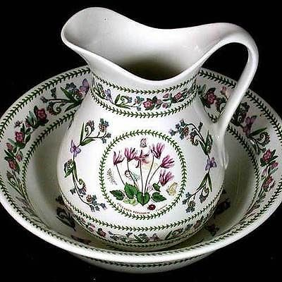 Portmeirion Botanic Garden Pitcher And Basin Set Variations Ebay Antique Bowl Picture