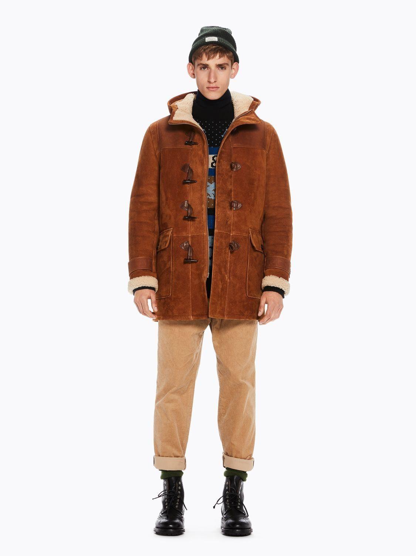 billigsten Verkauf attraktive Mode Rabatt bis zu 60% Suede Trucker Jacket   Duffle coat, Leather jacket, Jackets