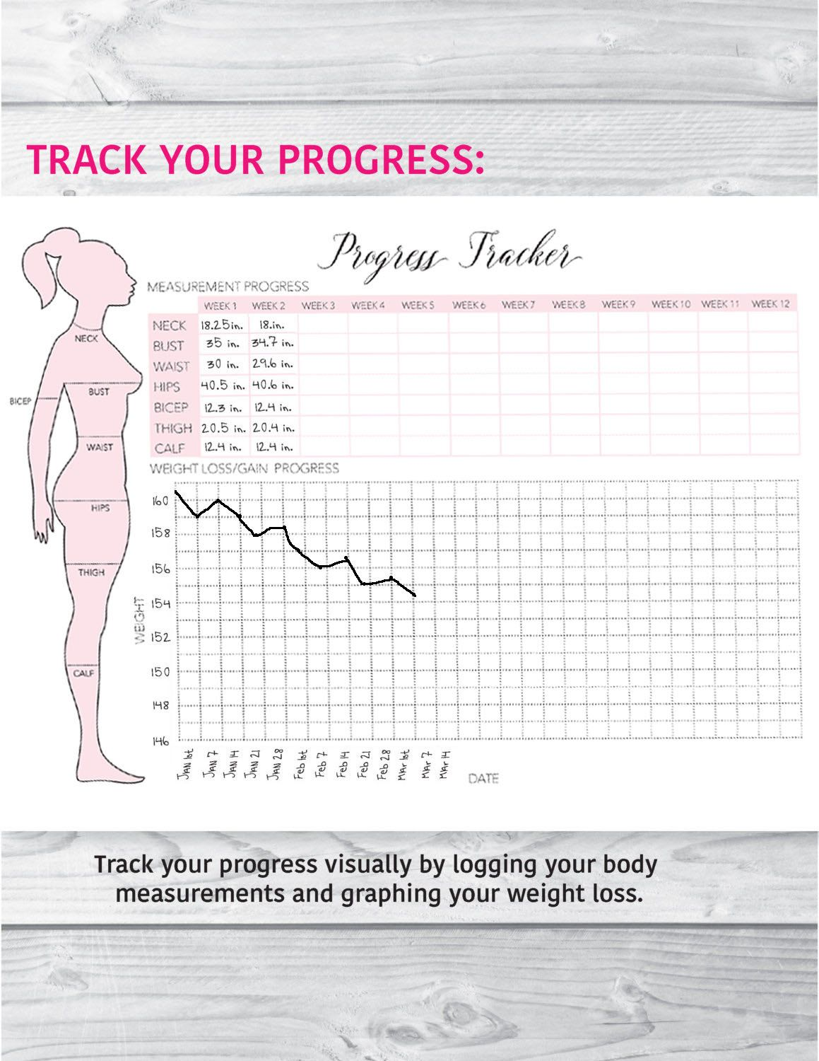 weight loss measurement log