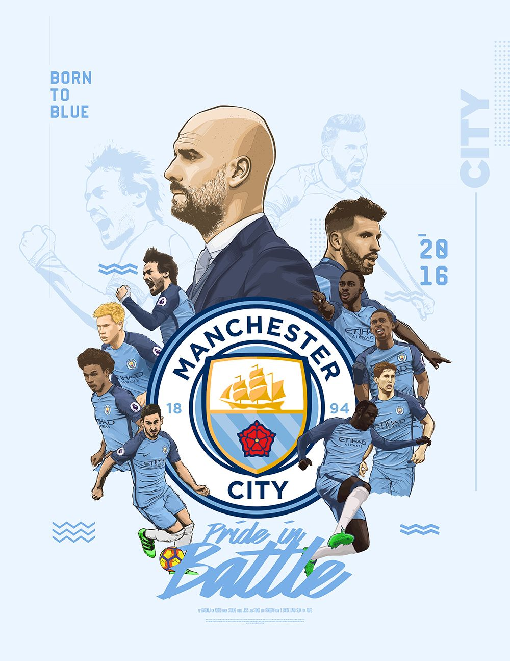 manchester city poster on behance