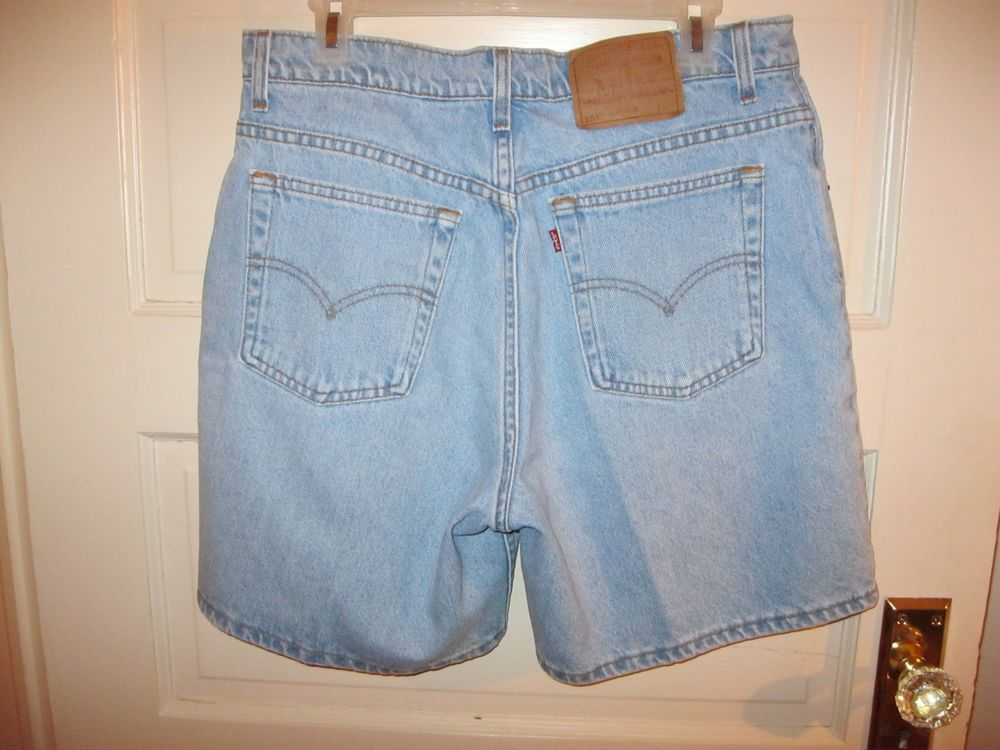 Women's Levis 551 Relaxed Fit Jean Shorts Vintage Denim  Size 14 USA Made #Levis #Denim