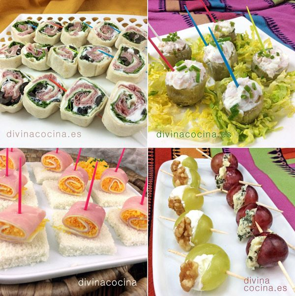 10 aperitivos fáciles para invitados y fiestas | Aperitivos ...