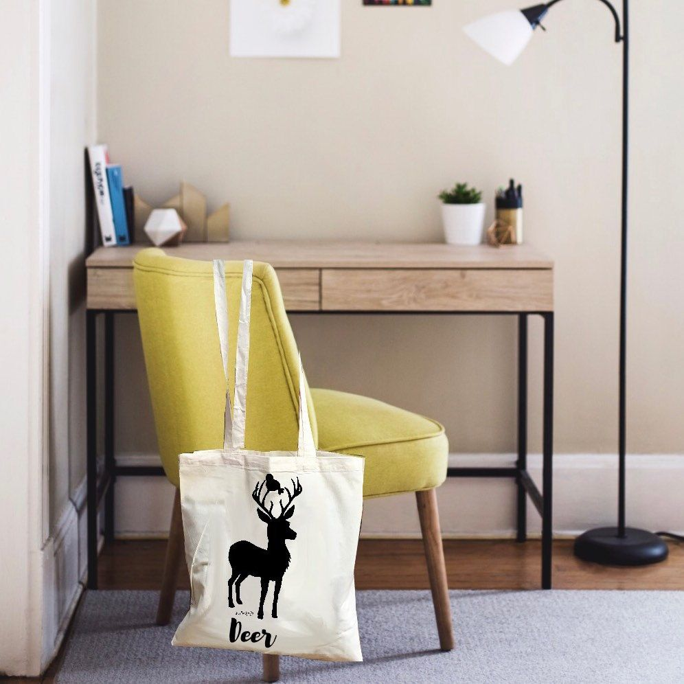 Are you just like me? Are you done with the plastic bags you get in stores? Buy this cute deer tote! No more plastic waste.