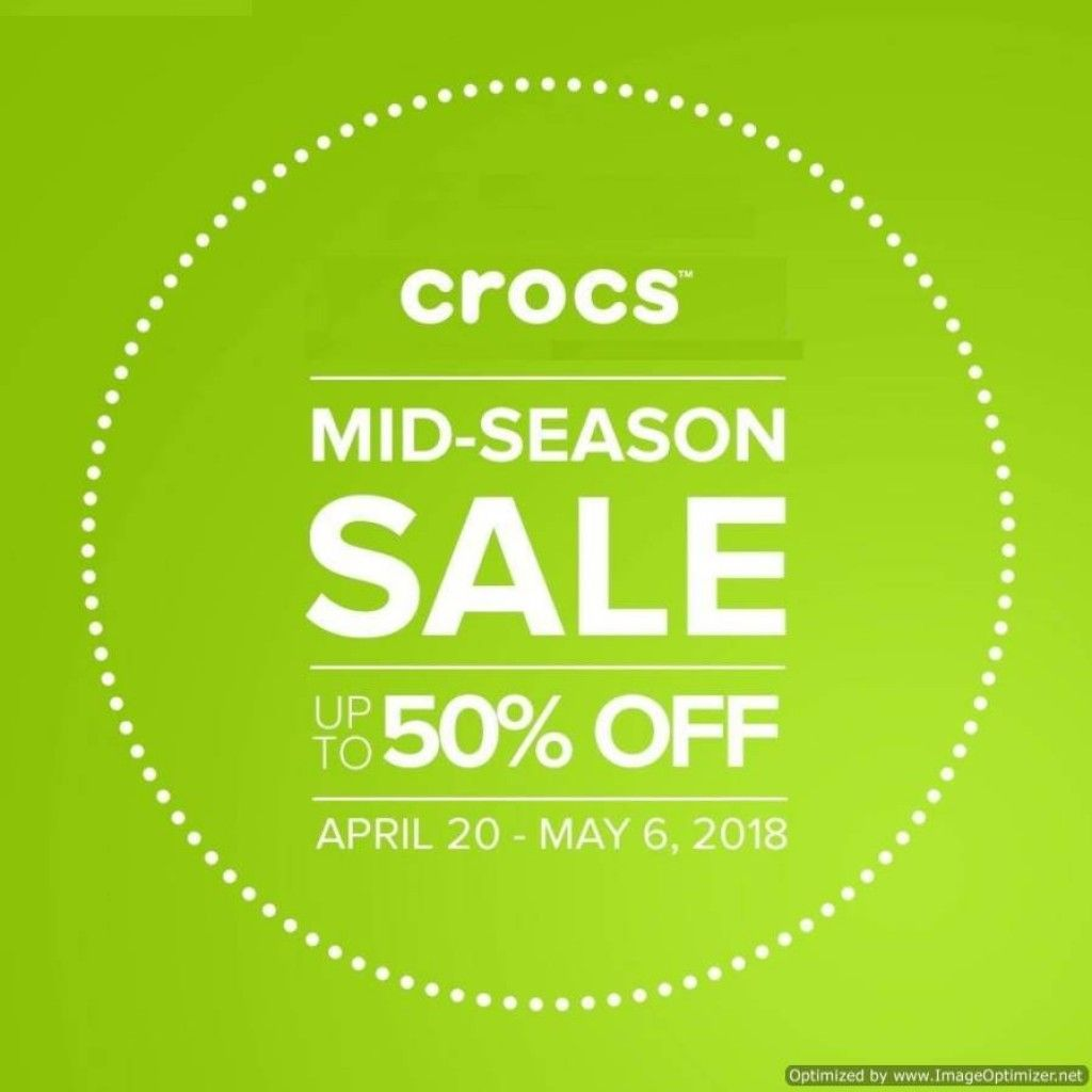 at CROCS Mid Season Sale from Apr 20 to