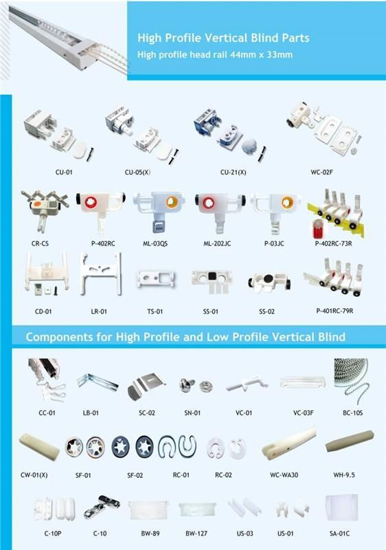 Hot Ing R D Certificated Sheer Vertical Blind Parts Component