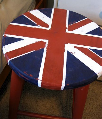 Easy To Paint Union Jack Stool Home Union Jack