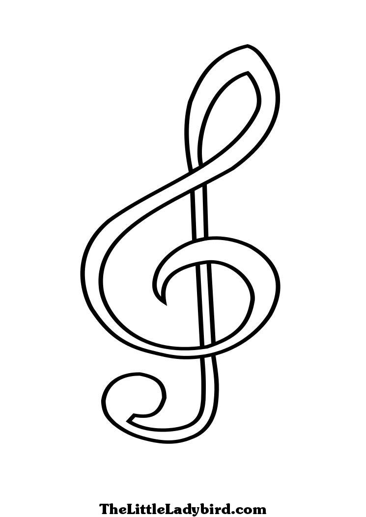 Music Notes Coloring Page : music, notes, coloring, Coloring, Pages, Music, Notes, Coloring,, Pages,, Alphabet