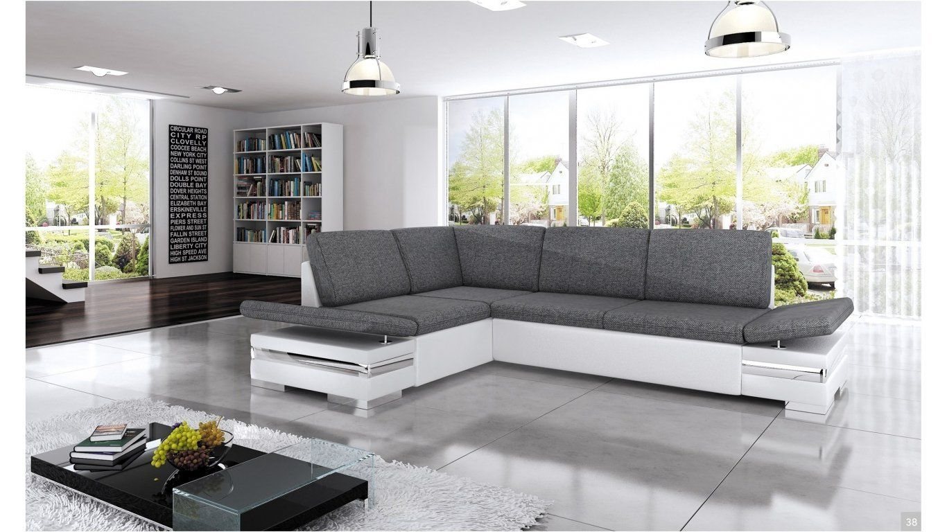 Bmf Latino Lux White Grey Corner Sofa Bed Faux Leather Fabric Left Facing Good Price Amazon Co Uk Kit Lovely Sofas Grey Corner Sofa Bed Corner Sofa Bed