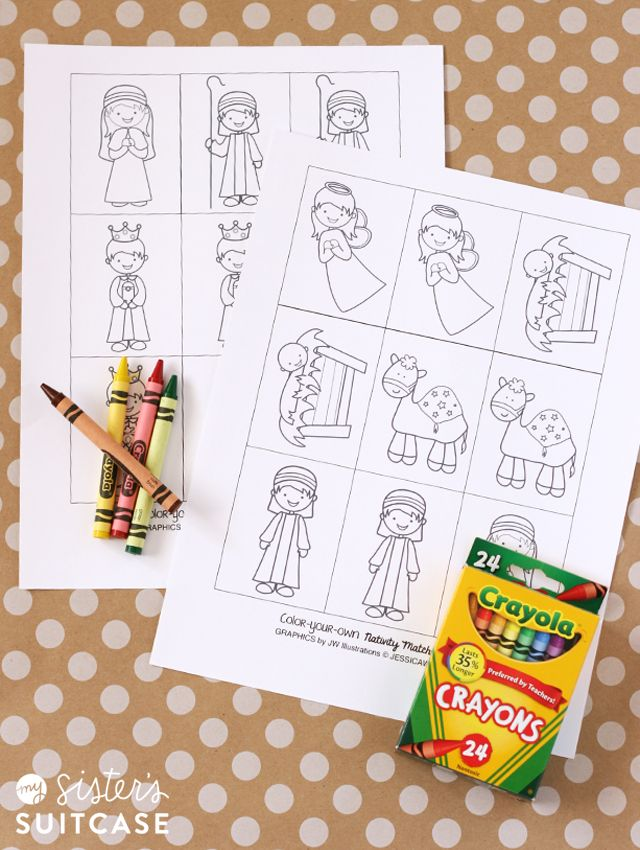 printable nativity matching game my sister s suitcase wish you a rh pinterest com